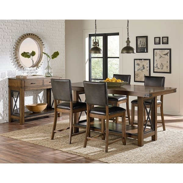 Benson Counter Height Dining Table – Free Shipping Today – Overstock Within Benson Rectangle Dining Tables (Image 7 of 25)