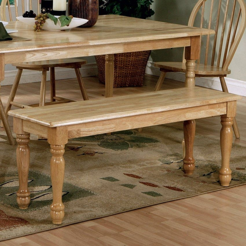 Bensoncoaster 4118 Country Natural Bench | Free Shipping Throughout Benson Rectangle Dining Tables (Image 10 of 25)