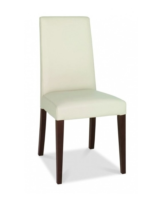 Bentley Designs – Akita Taper Back Ivory Leather Dining Chair In Ivory Leather Dining Chairs (Image 3 of 25)