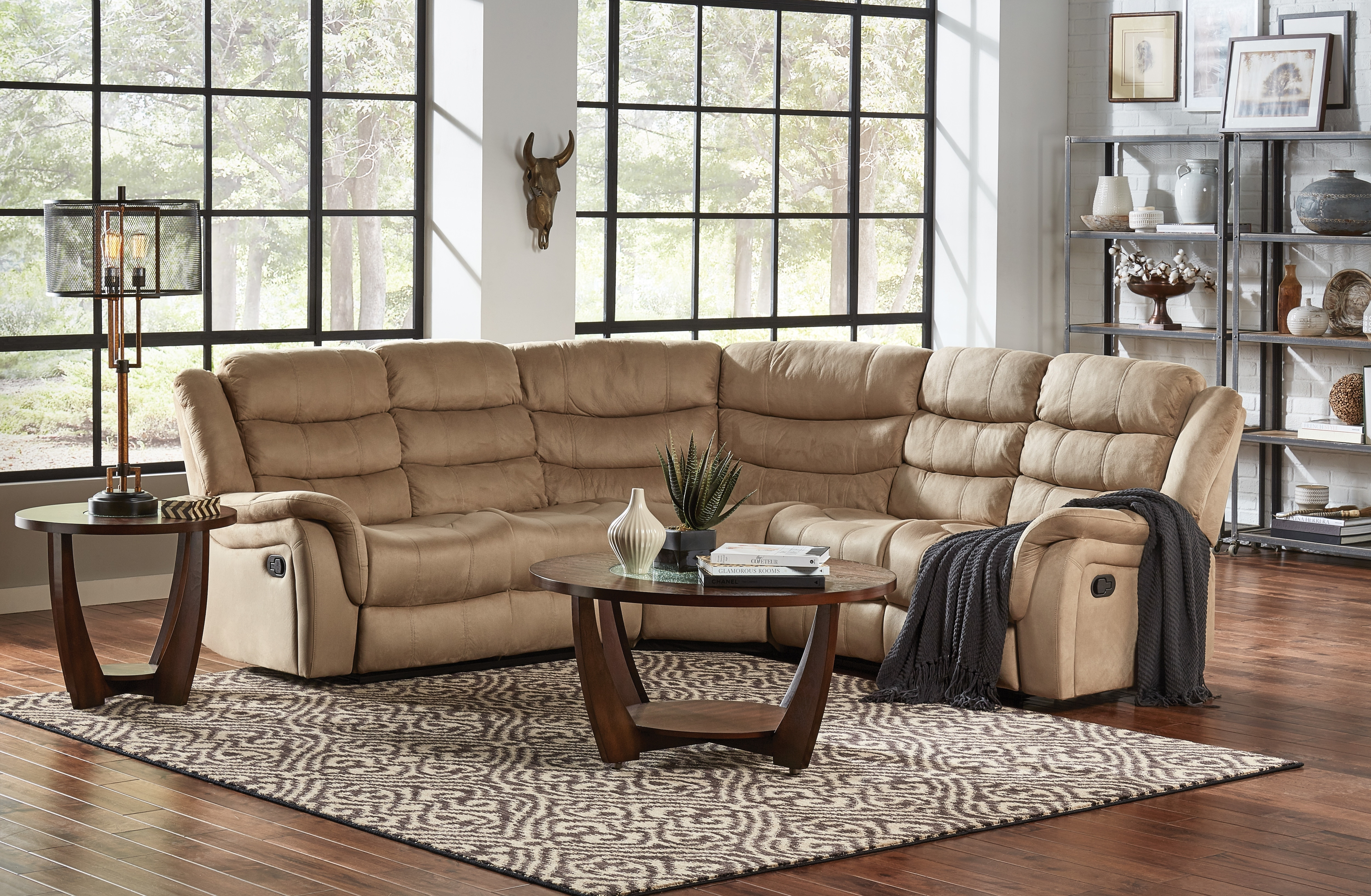 Benton 3Pc Reclining Sectional | Within Glamour Ii 3 Piece Sectionals (Image 5 of 25)
