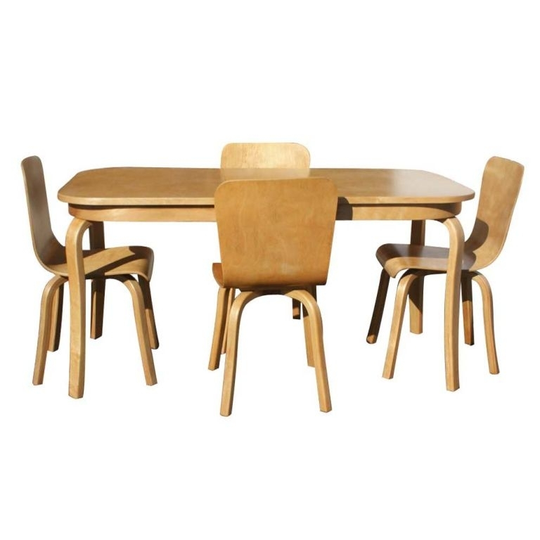 Bentwood Birch Dining Table And Four Chairs At 1Stdibs with Birch Dining Tables