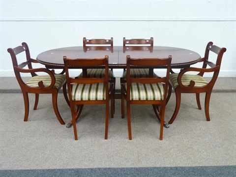 Beresford & Hicks Regency Style Reproduction Mahogany Extending Pertaining To Mahogany Extending Dining Tables And Chairs (Image 11 of 25)