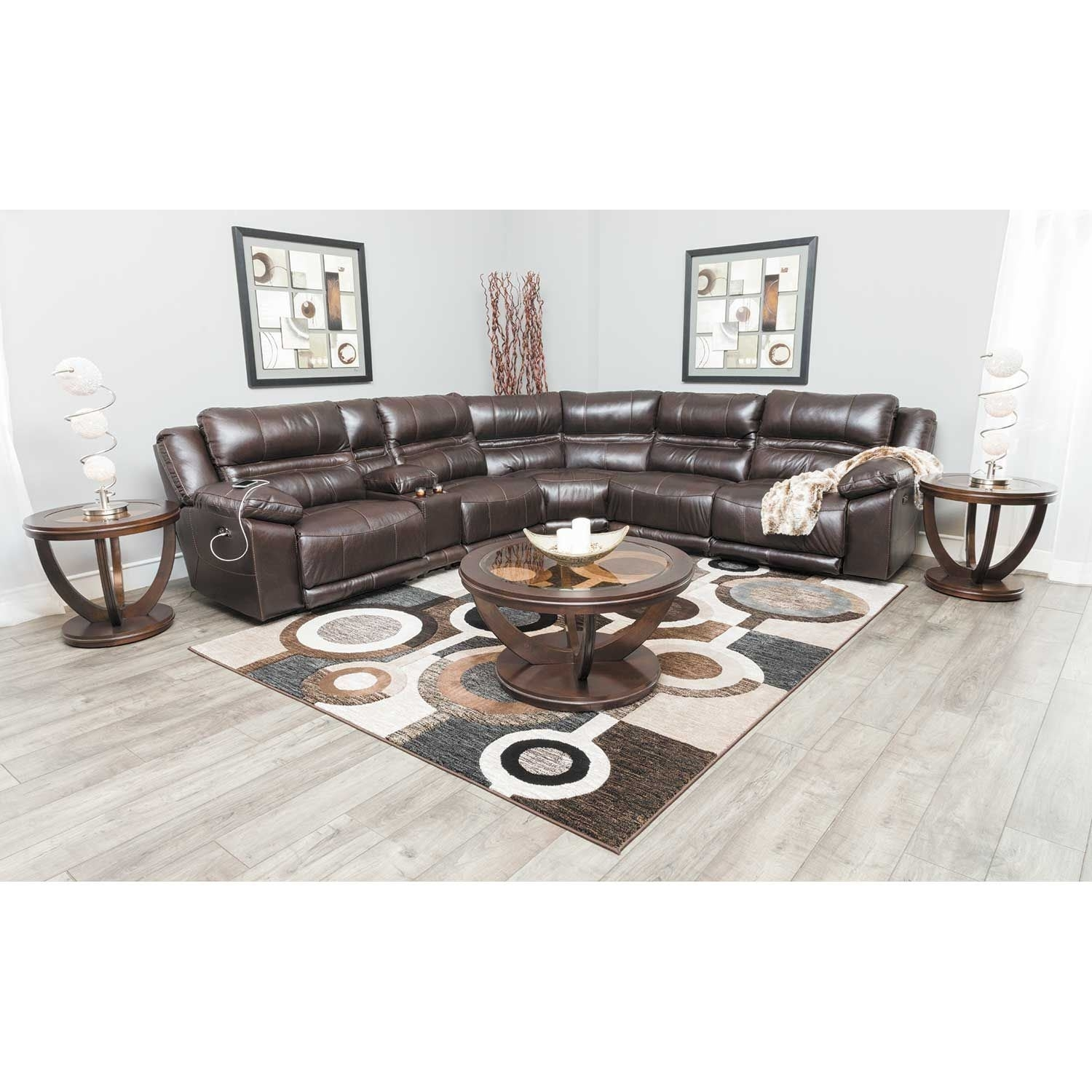 Bergamo 6 Piece Power Reclining Sectional W/adjustable Headrest And Pertaining To Jackson 6 Piece Power Reclining Sectionals (View 14 of 25)