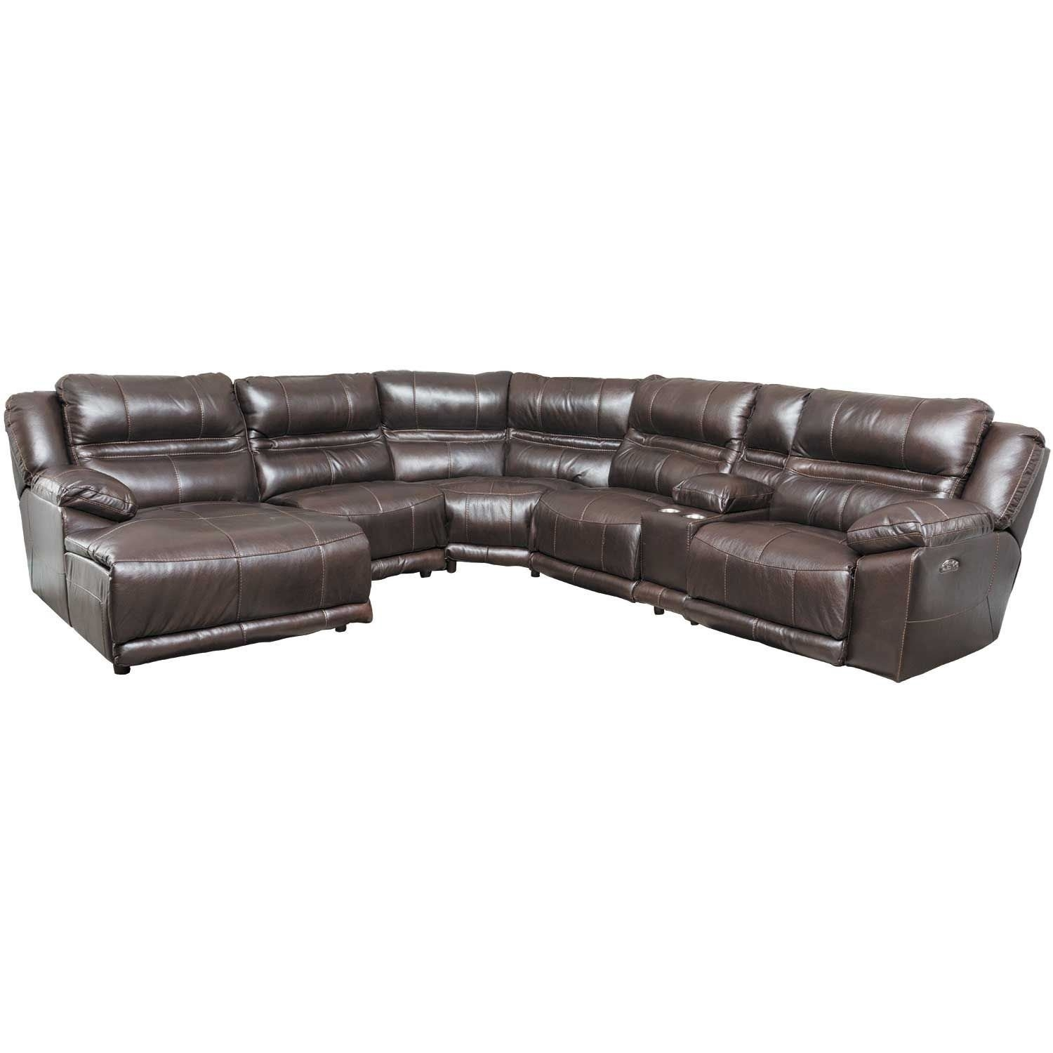 Bergamo 6 Piece Power Reclining Sectional With Adjustable Headrest Within Jackson 6 Piece Power Reclining Sectionals (View 2 of 25)