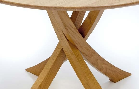 Bespoke Circular Dining Table In Oak | Makers' Eye With Regard To Circular Dining Tables (Image 4 of 25)