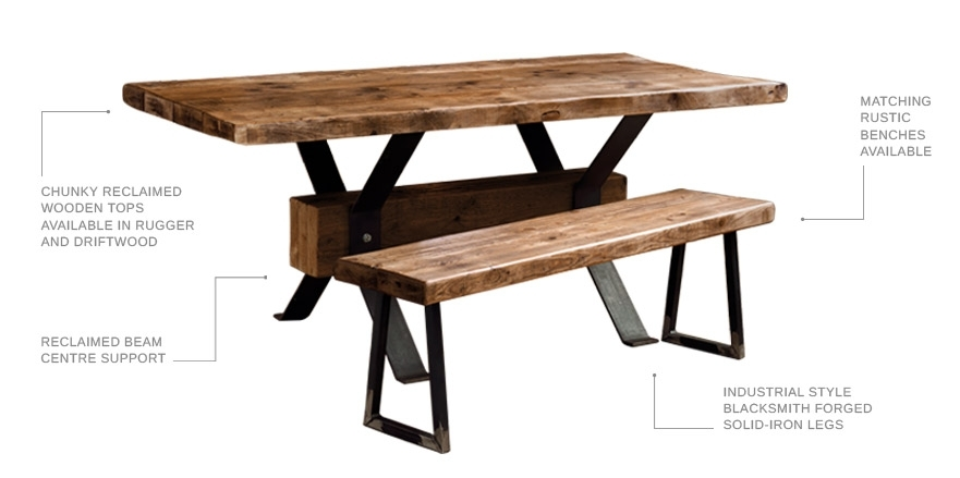 Bespoke Industrial Solid Wood Furniture | Design Shack Bespoke For Artisanal Dining Tables (View 20 of 25)