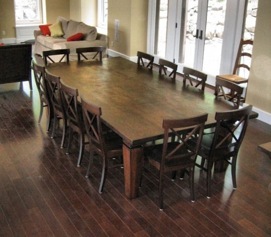 Best 12 Seater Square Dining Table 12 Seat Dining Room Table We With Regard To Farm Dining Tables (Photo 10 of 25)