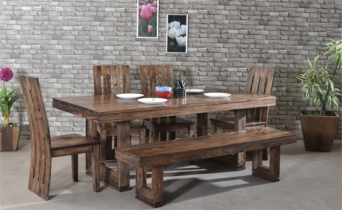 Best 5 Affordable Sheesham Wood Dining Tables Designs For All Types Throughout Sheesham Wood Dining Tables (Image 2 of 25)