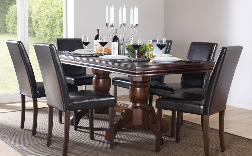 Best Black Wood Dining Table With Chatsworth & City Extending Dark In Chatsworth Dining Tables (Image 2 of 25)