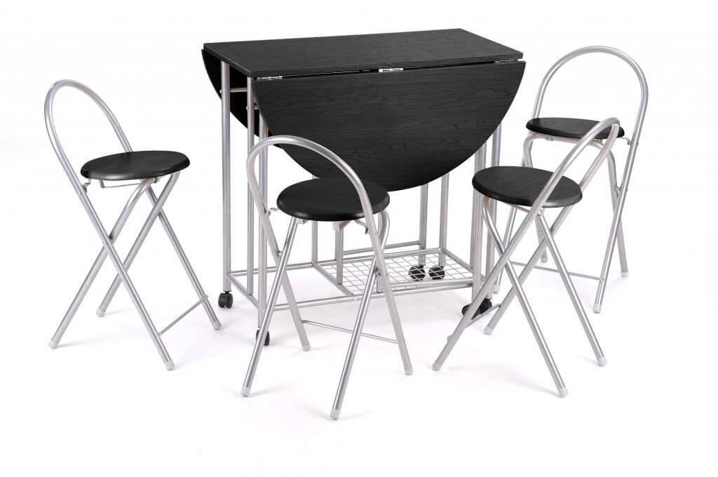 Best Folding Tables & Chairs – Reviews Uk 2017 – 2018 In Black Folding Dining Tables And Chairs (View 3 of 25)