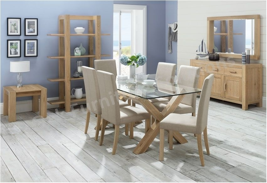 Best Glass Dining Room Furniture Endearing Decor Oak Dining Room Intended For Oak And Glass Dining Tables And Chairs (Image 5 of 25)