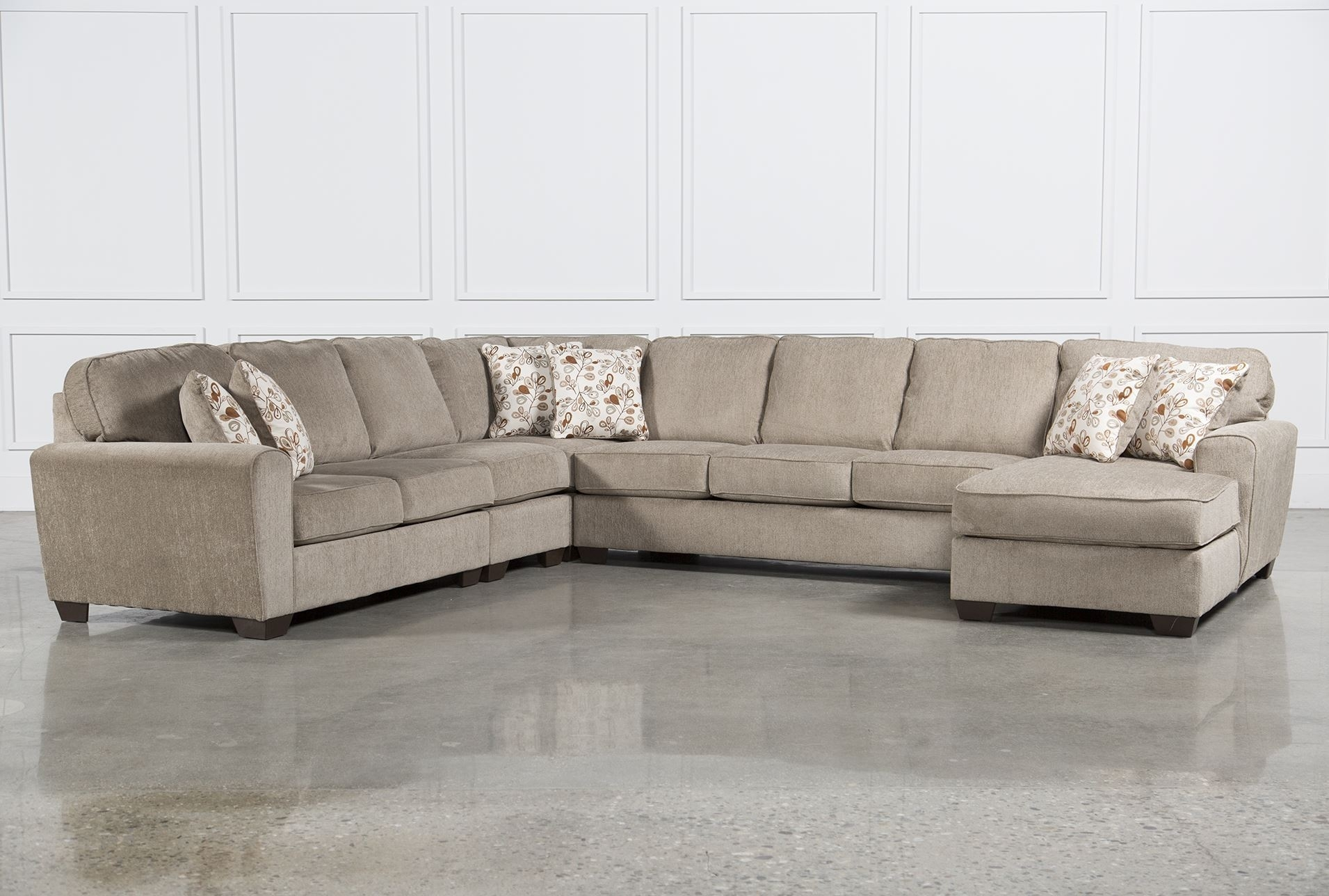 Best Ideas Of Raf Chaise In Patola Park 5 Piece Sectional W Raf In Norfolk Chocolate 3 Piece Sectionals With Raf Chaise (Image 3 of 25)