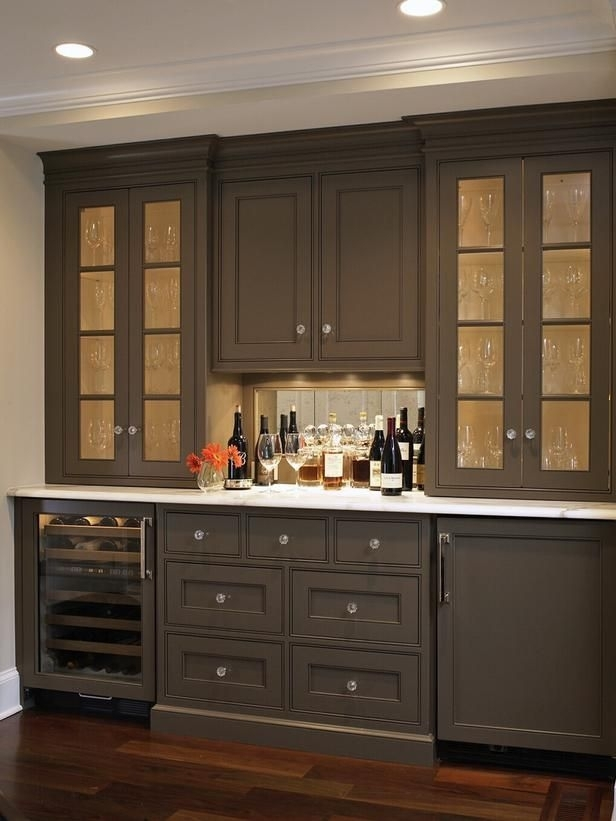 Best Kitchen Countertop Pictures: Color & Material Ideas | Pantry With Regard To Dining Room Cabinets (Image 8 of 25)