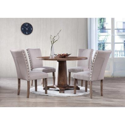Best Master Furniture Carey Round 5 Piece Round Dining Set In 2018 Inside Jaxon 5 Piece Extension Round Dining Sets With Wood Chairs (Image 2 of 25)