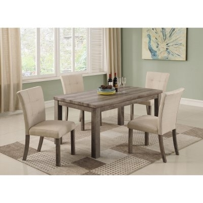 Best Master Furniture Hadley 5 Piece Dining Table Set In 2018 Regarding Market 7 Piece Dining Sets With Host And Side Chairs (View 9 of 25)
