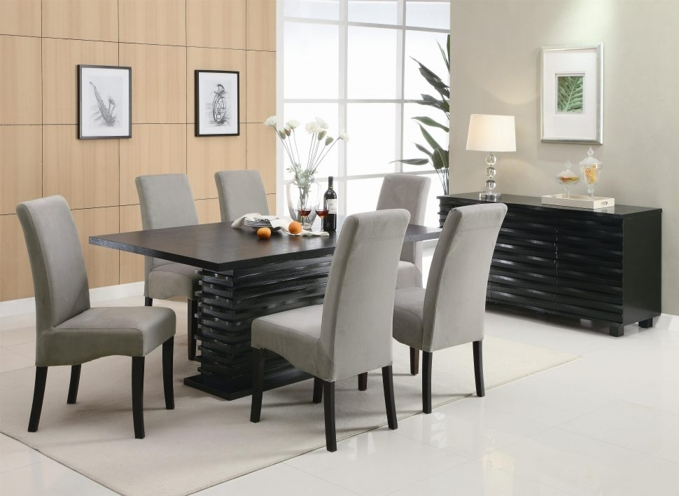 Best Modern Dining Room Sets — Bluehawkboosters Home Design Throughout Contemporary Dining Tables Sets (Image 3 of 25)
