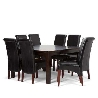 Best Rated – Faux Leather – Wood – Black – Dining Room Sets Throughout Black Wood Dining Tables Sets (Image 3 of 25)