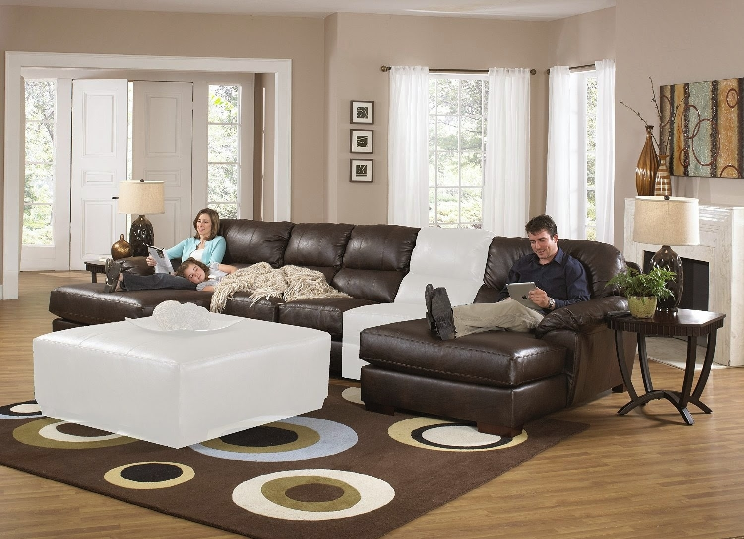 Best Reclining Sofa For The Money: Sleeper Sectional Sofa Within Jackson 6 Piece Power Reclining Sectionals With  Sleeper (Image 5 of 25)