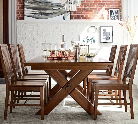 Best Toscana Extending Dining Table 2017 Pottery Barn Flash Sale Up Throughout Toscana Dining Tables (Image 3 of 25)