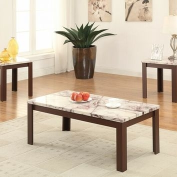 Best Wood Coffee Table Set Products On Wanelo Throughout Carly Triangle Tables (Image 7 of 25)