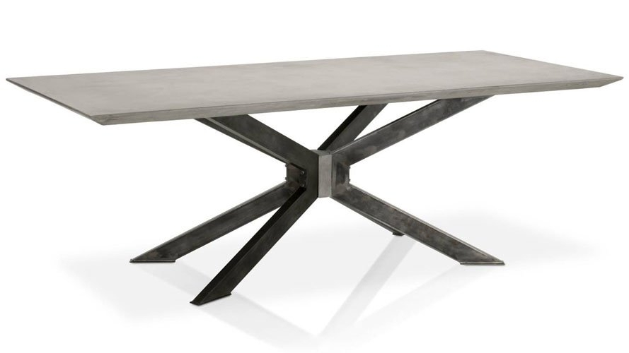 Beton 87 Inch Dining Table | Zuri Furniture For 87 Inch Dining Tables (Image 6 of 25)