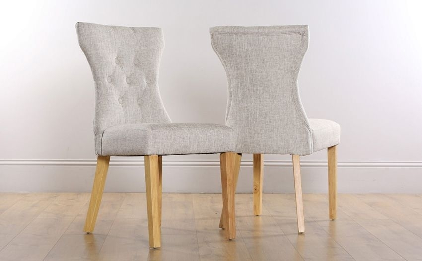 Bewley Button Back Dining Chair | Kitch Kitchens | Pinterest Pertaining To Oak Fabric Dining Chairs (View 24 of 25)