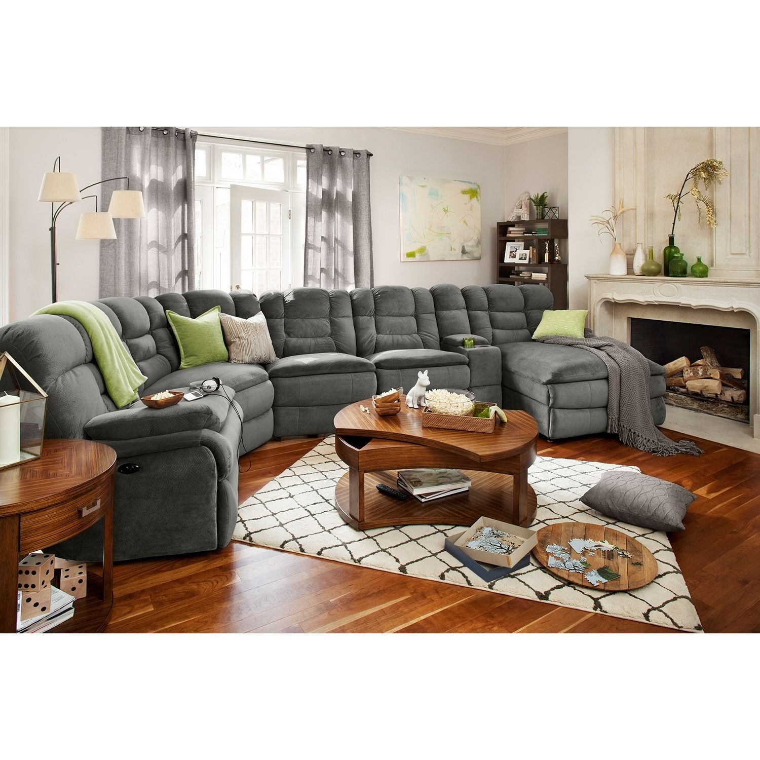 Big Softie 6 Piece Power Reclining Sectional With Right Facing Inside Jackson 6 Piece Power Reclining Sectionals With  Sleeper (Image 6 of 25)