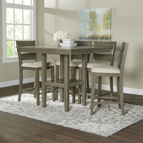 Birch Lane Brantford 5 Piece Counter Height Dining Set | Birch Lane Inside Jameson Grey 5 Piece Counter Sets (Image 5 of 25)