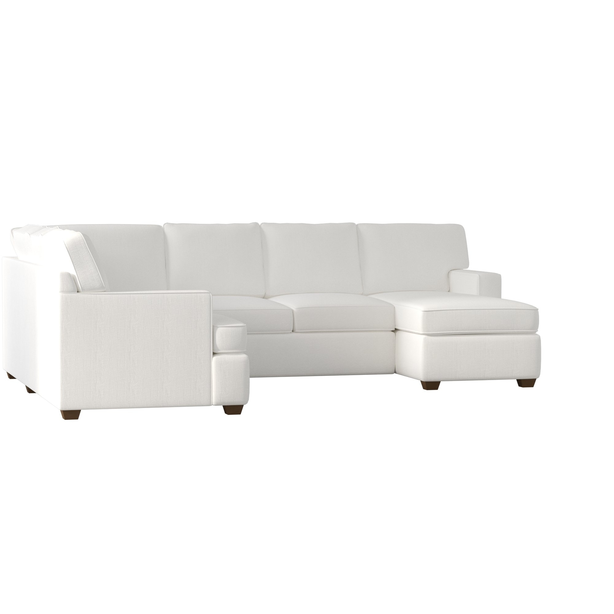 Birch Lane™ Evanston Sectional & Reviews | Birch Lane With Regard To Karen 3 Piece Sectionals (Image 4 of 25)