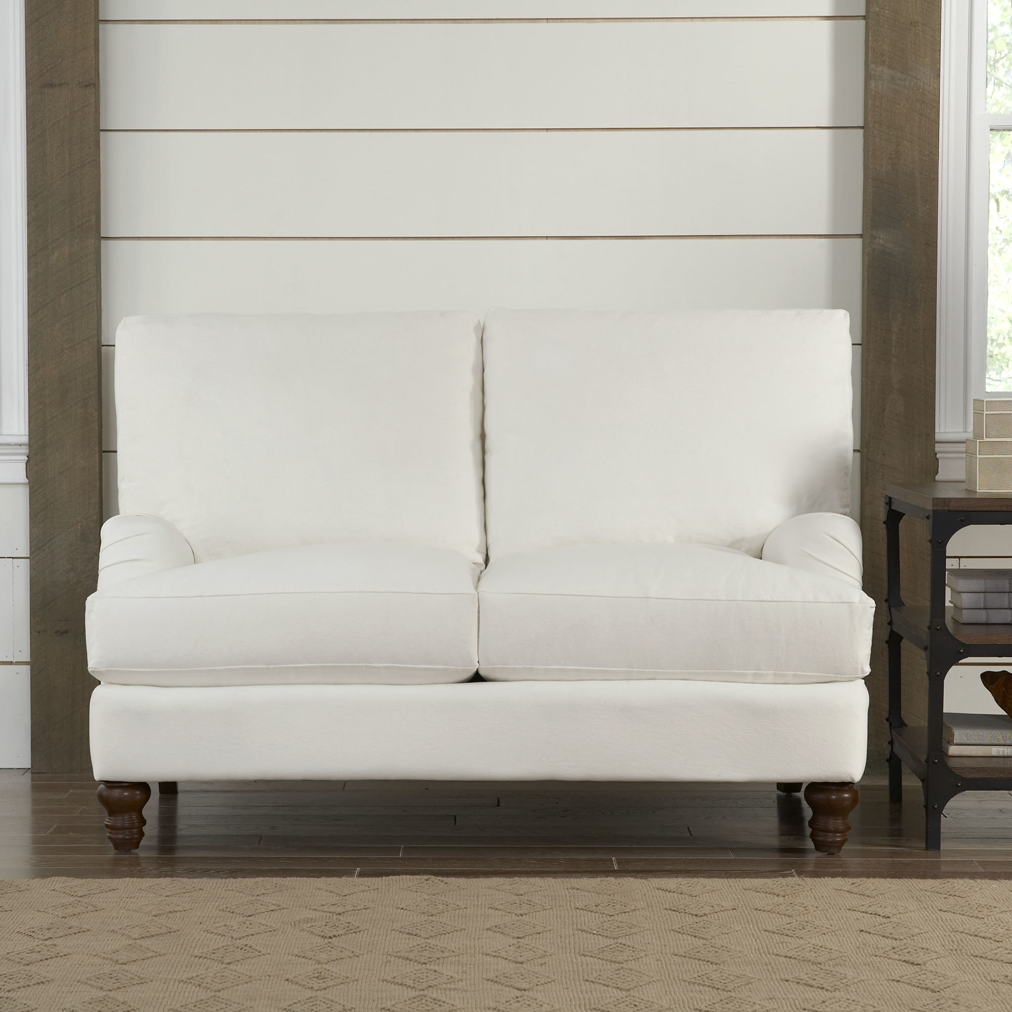 Birch Lane™ Montgomery Upholstered Loveseat & Reviews | Birch Lane Within London Optical Reversible Sofa Chaise Sectionals (Image 3 of 25)