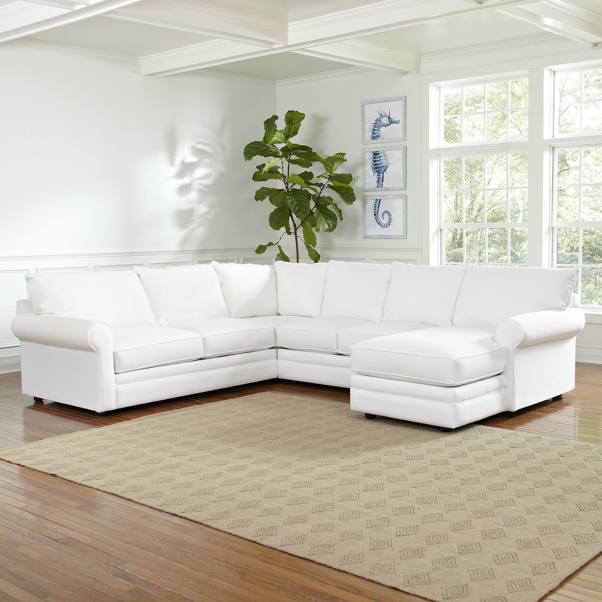 Birch Lane™ Newton Sectional & Reviews | Birch Lane Intended For Norfolk Chocolate 6 Piece Sectionals (Image 4 of 25)