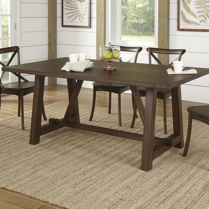 Birch Lane™ Romney Rectangular Dining Table & Reviews | Wayfair Pertaining To Laurent 7 Piece Rectangle Dining Sets With Wood And Host Chairs (Image 3 of 25)