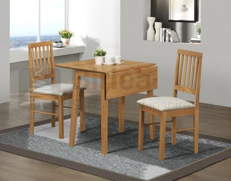 Birlea Drop Leaf Table And Two Chairs In Oak Finish £179, Beds For Two Chair Dining Tables (Image 3 of 25)