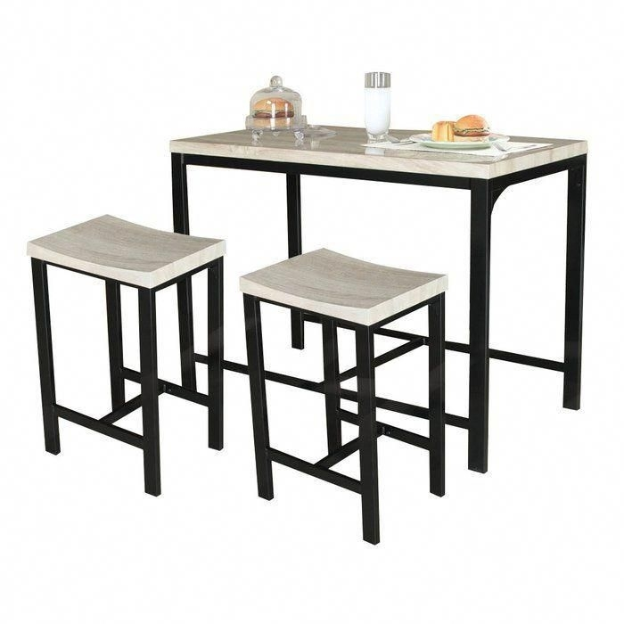 Biron 3 Piece Dining Set In 2018   Pub Sets   Pinterest In Palazzo 3 Piece Dining Table Sets (Image 5 of 25)