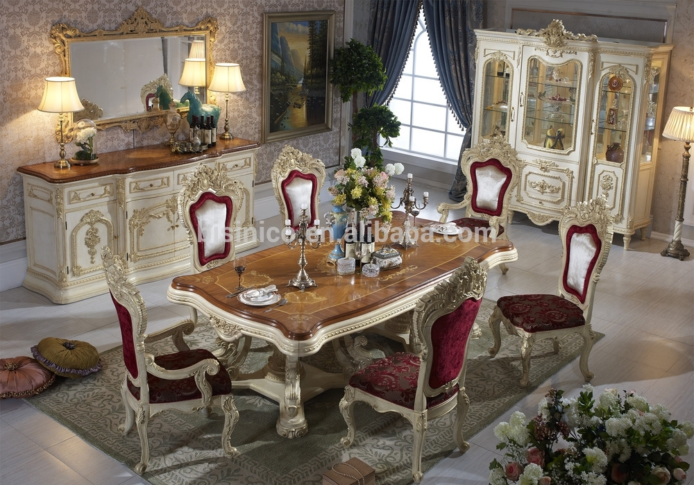 Bisini Luxury Italian Style Dining Table,french Royal Dining Room Intended For Royal Dining Tables (Image 3 of 25)