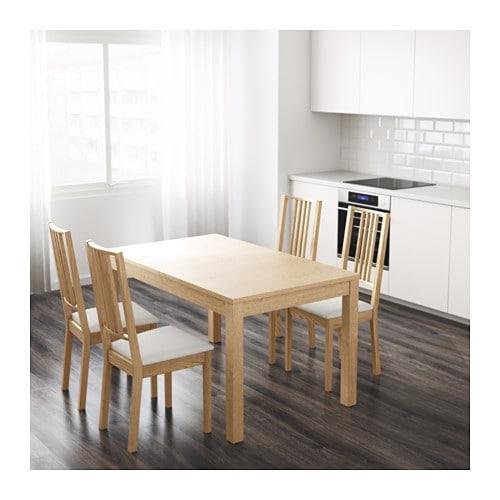 Bjursta Extendable Table Oak Veneer 140/180/220 X 84 Cm – Ikea Pertaining To Extendable Dining Tables (Image 1 of 25)