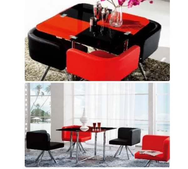 Black And Red Modern Glass Dining Table – Lorenz Furniture For Red Dining Table Sets (Image 5 of 25)