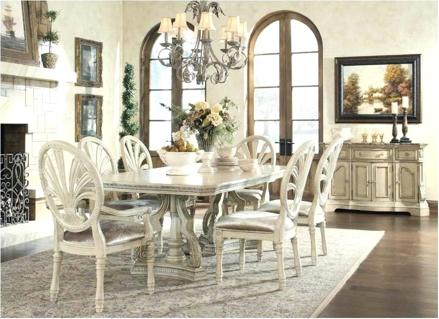 Black And White Dining Room Sets Brilliant Antique White Dining Room Regarding White Dining Tables Sets (View 9 of 25)