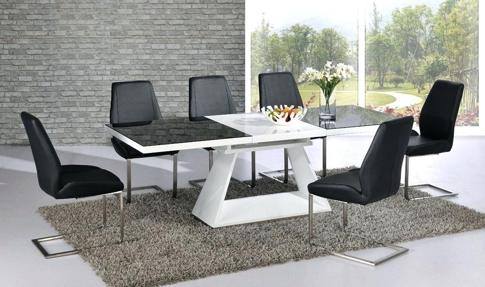 Black And White Dining Table Black Modern Dining Room Chairs With For White High Gloss Dining Tables And Chairs (Image 3 of 25)