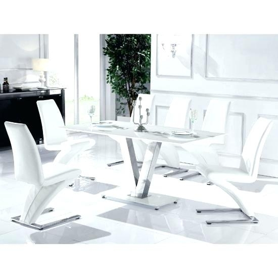 Black And White Glass Dining Table Black Dining Room Table Sets Within Glass Dining Tables White Chairs (Image 7 of 25)