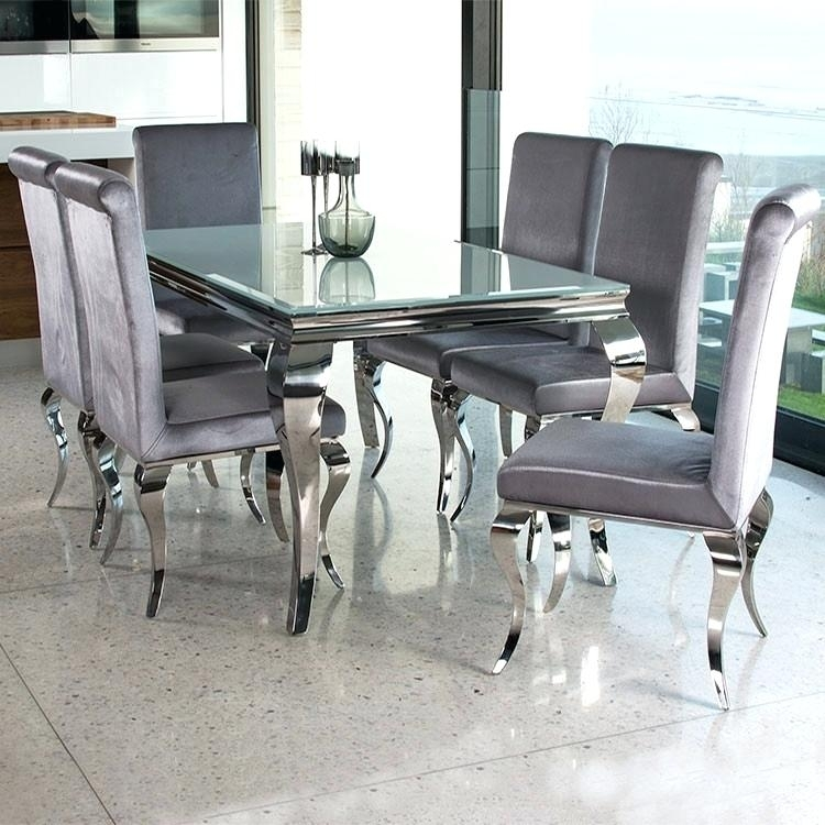 Black And White Glass Dining Table – Pizzaitaliana For Chrome Glass Dining Tables (Image 4 of 25)