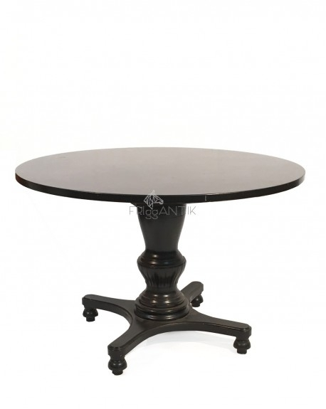 Black Classic Circular Dining Table, Sweden Tables Intended For Black Circular Dining Tables (Image 4 of 25)