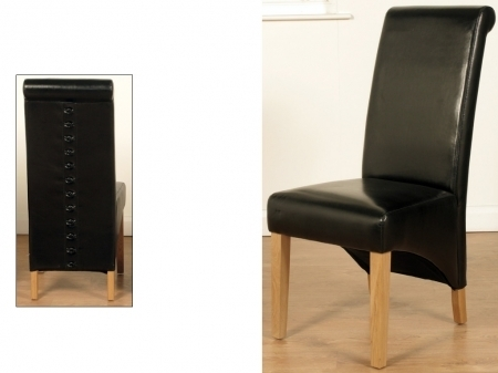 Black Dining Chair | Dining Room Furniture Northern Ireland With Rocco Extension Dining Tables (Image 3 of 25)