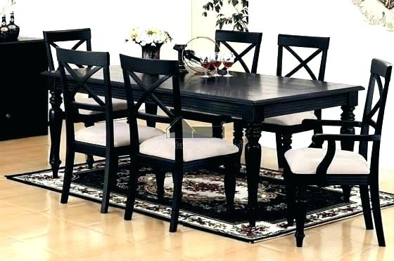 Black Dining Room Furniture Black Dining Table And Chairs Sets Black For Black Dining Tables (Image 6 of 25)