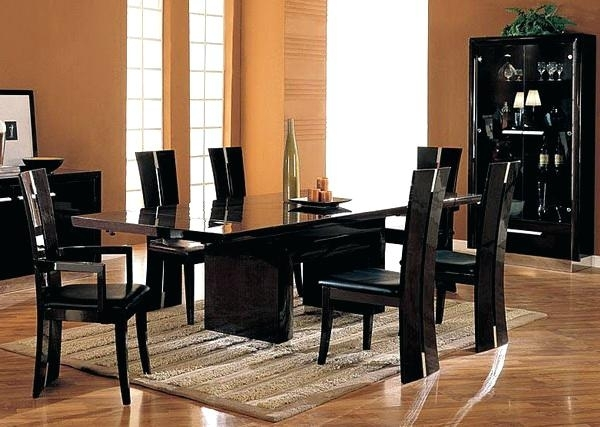 Black Dining Room Furniture Space Chrome Black Glass Extending In Black Extendable Dining Tables Sets (Image 5 of 25)