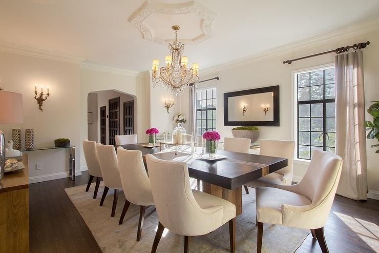 Black Dining Table With Cream Upholstered Dining Chairs With Regard To Cream Dining Tables And Chairs (View 14 of 25)