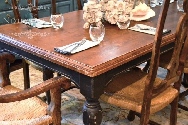 Black Farm House Dining Table Love Love Love The Old English Feel Of Pertaining To Barn House Dining Tables (Image 9 of 25)