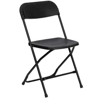 Black – Folding Tables & Chairs – Furniture – The Home Depot Throughout Black Folding Dining Tables And Chairs (Image 8 of 25)
