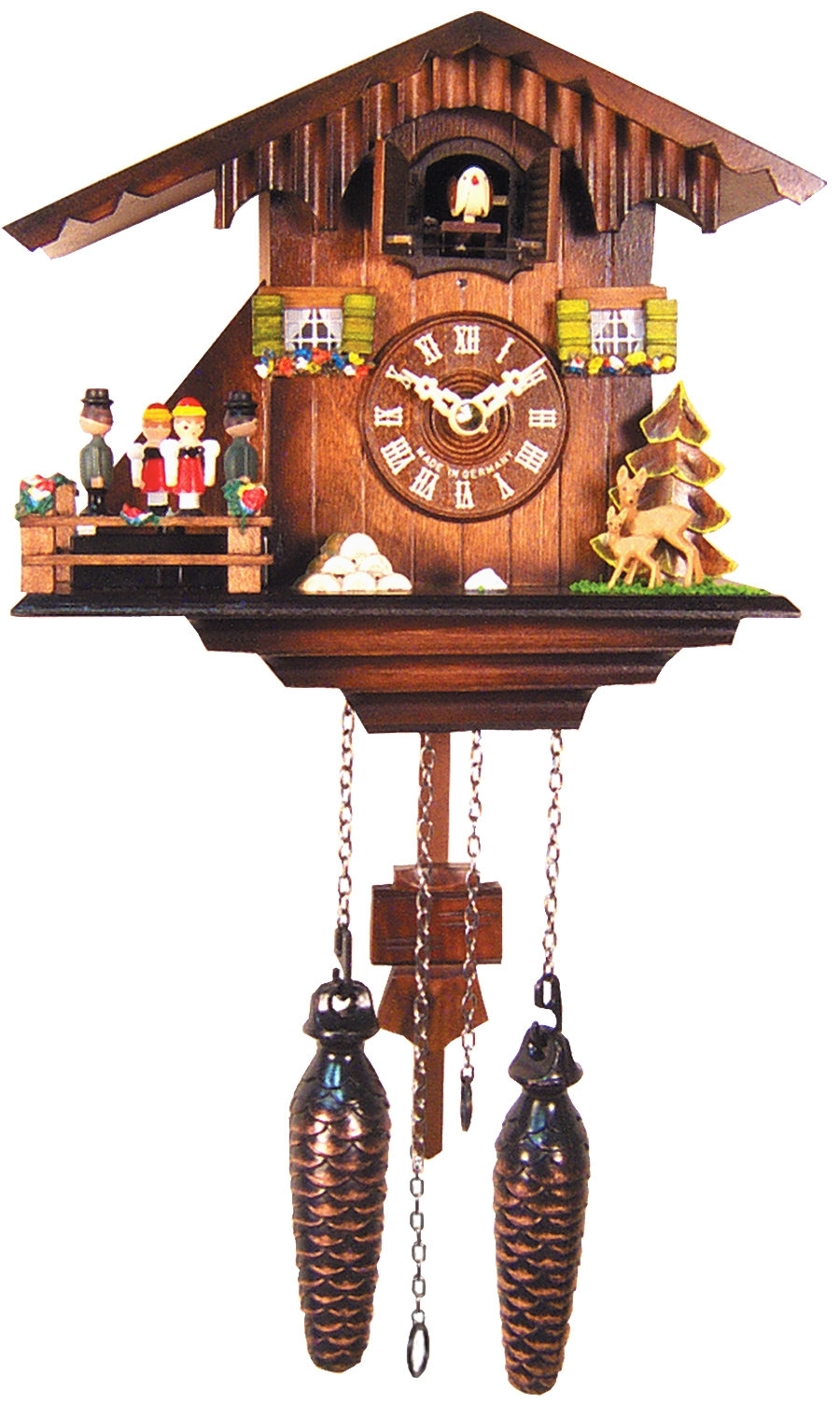 Black Forest Cuckoo Clock | Wayfair Throughout Taron 3 Piece Power Reclining Sectionals With Left Facing Console Loveseat (Image 4 of 25)