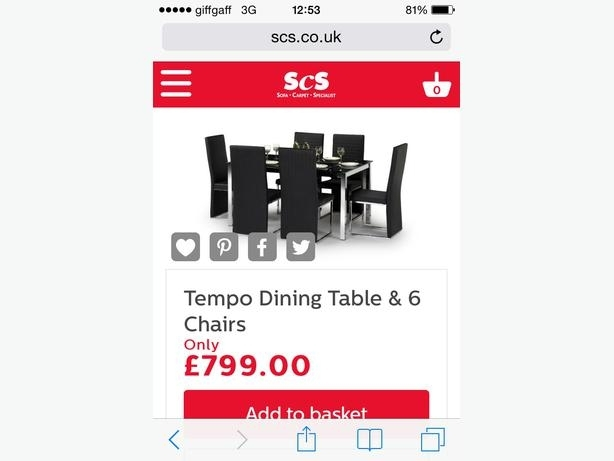 Black Glass Scs Dining Table With 6 Black Faux Leather Chairs Pertaining To Scs Dining Tables (Image 4 of 25)